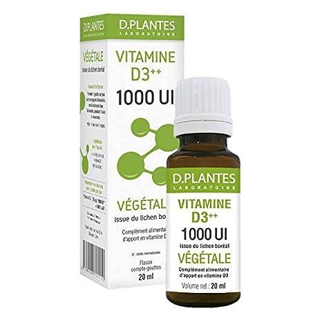 D Plantes - Vitamina D3++ 1000 UI - Vegetal - 20ml: Amazon.es: Salud y cuidado personal