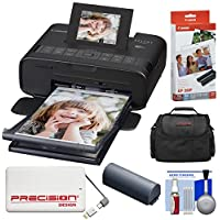 Canon SELPHY CP1200 Wi-Fi Wireless Compact Photo Printer with NB-CP2LH Battery Pack with Ink + Paper + Portable Power Bank + Case + Kit