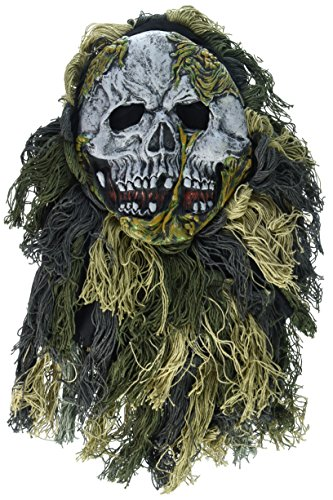 Close Up Swamp Zombie Mask