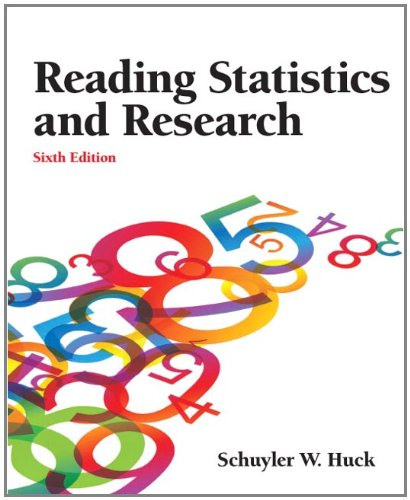 Reading Statistics and Research (6th Edition) by Pearson