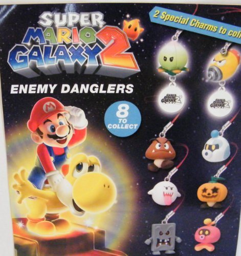 Mario Galaxy 2 - Enemy Dangler - Set of 8 (keychains)