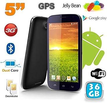 Smartphone Android 5 Pulgadas Teléfono Libre Dual Core 36 GB Negro ...