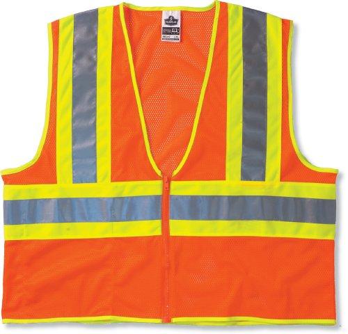 Economy Vest Orange - Ergodyne GloWear 8229Z ANSI Economy Two-Tone High Visibility Orange Safety Vest, 2XL/3XL