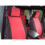 GEARFLAG Neoprene Seat Cover Custom fits Wrangler JK 2/4 Doors 2007-18 with no Side airbag (Front Pair Seats only) (Red…