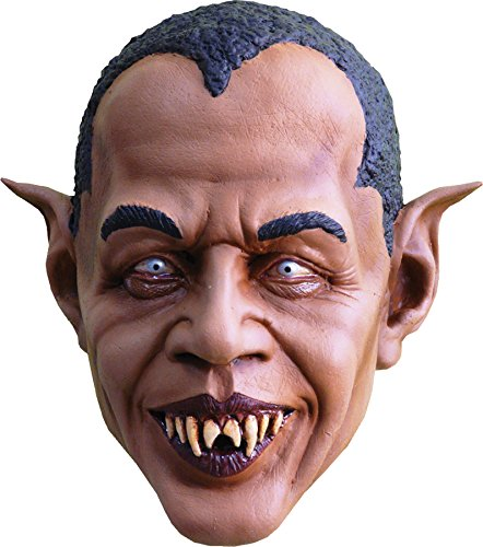 UHC Men's Obama Vampire Barakula Latex Mask Halloween Costume Accessory]()