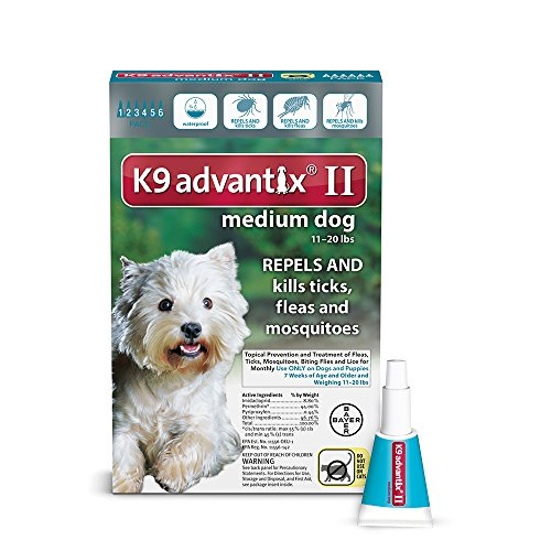 Bayer K9 Advantix II, Medium Dogs, 11 to 20-Pound, 6-Month