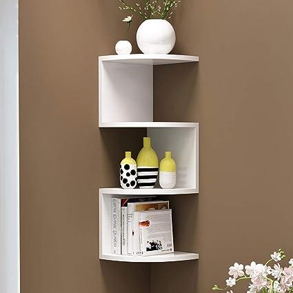 Amazon.com: Minmin-biguajia Corner Shelf Shelf Storage Rack Living ...