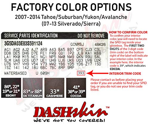 DashSkin Molded Main Dash Cover Compatible with 07-13 Silverado LS/LT & Sierra SL/SLE in Dark Titanium by DashSkin (Image #2)