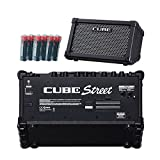 Roland Cube Street Battery-powered Guitar Combo Amplifier Black with 6 Free Universal Electronics AA Batteries