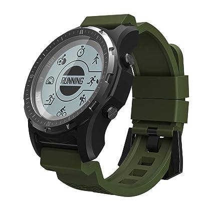 OOLIFENG GPS Al Aire Libre Reloj Aventurero Relojes Incluye Brújula/Barómetro/Termómetro Funciones para