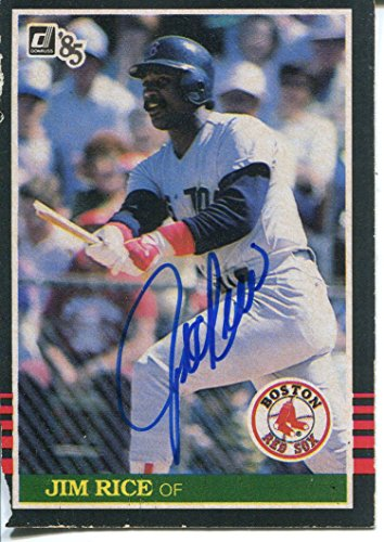 Jim Rice Autographed 1985 Donruss Card Autographed Jim Rice