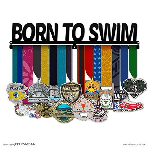 Believe&Train Born to Swim - Swimming Medal Hanger