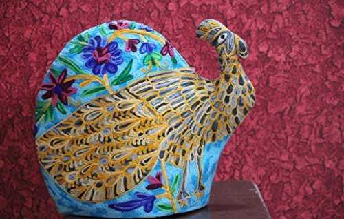Peacock Quilted Tea Cozy/Embroidered French press cosy/Teapot/cafetière/coffee plunger/kettle/percolator/server/pot/carafe/bird cozy/*** Free Delivery*** Mother's Day ()