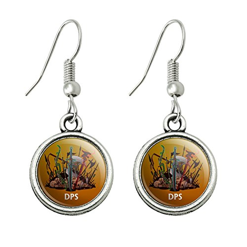 Awesome Larp Costumes (DPS Damage Per Second RPG MMORPG Class Role Playing Game Novelty Dangling Drop Charm Earrings)