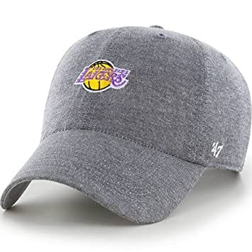 official photos 2836b f2c04 NBA Los Angeles Lakers Monument Salute Clean Up Gray  47 Brand Adjustable  Hat  Amazon.ca  Sports   Outdoors