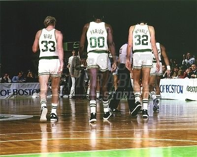 Bird Parrish McHale Boston Celtics walking off court 8x10 11x14 16x20 photo 832 - Size 11x14