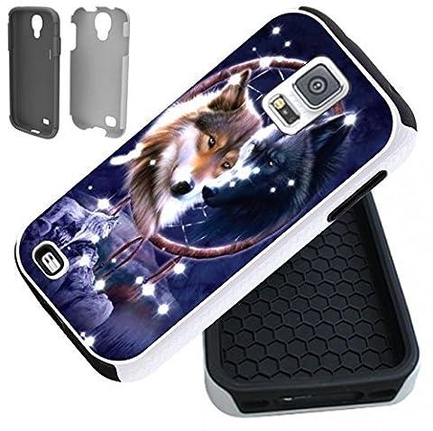 Wolf Native American 2-Piece Dual Layer Samsung Galaxy S5 Case (Samsung Galaxy S5 Cases Hawaii)