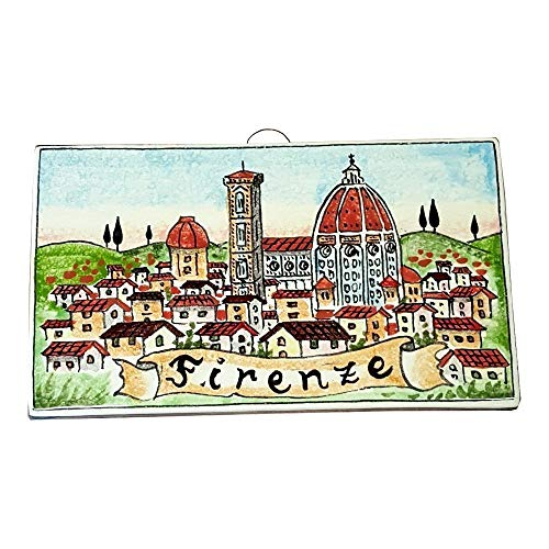 CERAMICHE D'ARTE PARRINI - Italian Ceramic Art Tile Pantiles Pottery Decorated City Florence Hand Painted Made in ITALY Tuscan