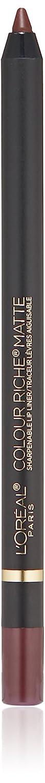 L'Oreal Paris Colour Riche Matte Lip-Liner, Matte's It, 1.17-Gram Matte's It L'Oreal Paris