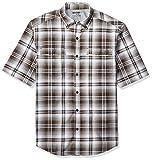 Wolverine Men's Springport Short Sleeve Shirt, Brown Plaid X Large