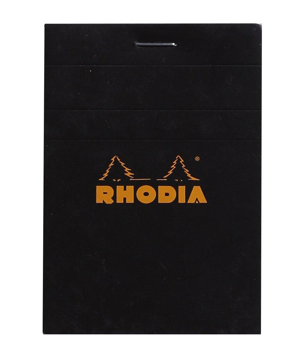 Rhodia - N°11 - Bloc Agrafé 80 Feuilles Détachables - Petits carreaux 5x5 - Format A7 (7, 4x10, 5cm) - Blanc C Rhodia 11201C Techniques artistiques