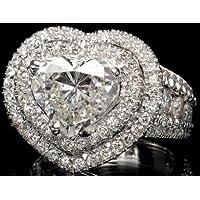 Saengthong Gorgeous Women 925 Sterling Silver Heart Cut White Sapphire Ring Wedding Sz 6-10 (7)