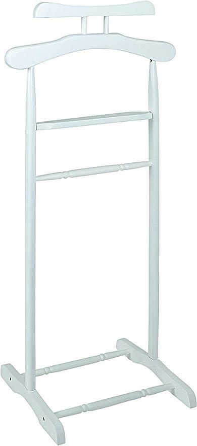 altura 102 cm Haku M/öbel perchas de madera maciza en blanco