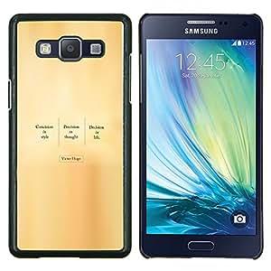 """Be-Star Único Patrón Plástico Duro Fundas Cover Cubre Hard Case Cover Para Samsung Galaxy A5 / SM-A500 ( Victor Hugo - Cita"""" )"""