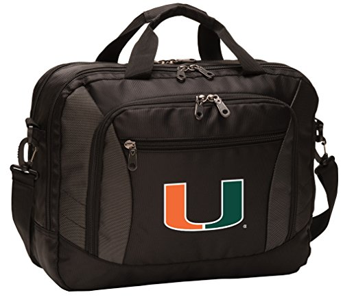 Broad Bay University of Miami Laptop Bag Best NCAA Miami Canes Computer Bags by Broad Bay