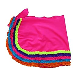Azul Little Girls Fuchsia Multi Color Trim Detail Chasing Rainbows Pareo 4/5