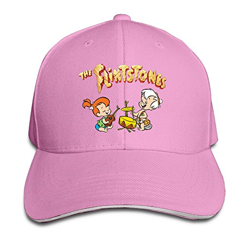 [Logon 8 The Flintstones Funny Sun Hat Pink One Size] (Fred And Wilma Costumes To Make)