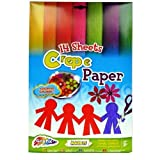 A4 Crepe Paper - 14 Sheets - Assorted Colours