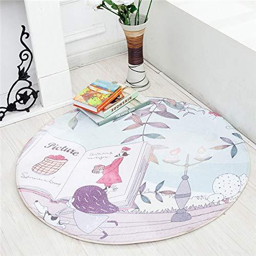 VT BigHome Cute Rabbit Carpet Animal Toys Kids Game Mats Non-Slip Home Rug Baby Crawling Multifunctional Round Blanket Play Mat