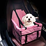 Adorrable Pet Booster Seat Collapsible Waterproof Mesh Side Clip On Bucket Dog Car Seat, Pink, Medium