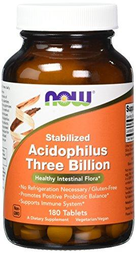 Now Stabilized Acidophilus Three Billion,180 Tablets