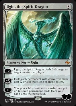 Magic: the Gathering - Ugin, the Spirit Dragon (001/185) - Fate Reforged - Foil