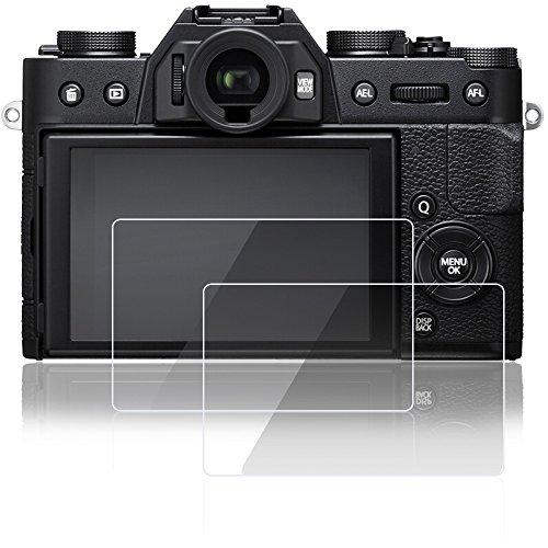 Screen Protectors Compatible Fujifilm X-A1 X-A2 X-M1 X-T100 X-T20 X-T10 X-E3 X-30 Panasonic Lumix lx100, AFUNTA 2 Pcs Tempered Glass Protective Foils Compatible Fuji XT100 XA1 XA2 XM1 XT20 XT10 Camera
