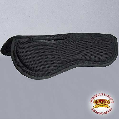 Wither Relief Saddle Pad - HILASON TA350F WESTERN BLACK WITHER RELIEF ANTI-SLIP W/MEMORY FOAM SADDLE PAD