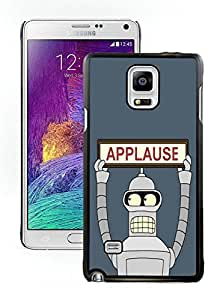 Popular Designed Case With Futurama Bender Applause Cover Case For Samsung Galaxy Note 4 N910A N910T N910P N910V N910R4 Black Phone Case CR-221
