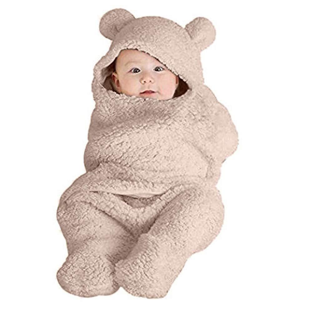 Baby Winter Cartoon Bear Warm Fleece Hoodie Footies Jumpsuit Rompe Outwear