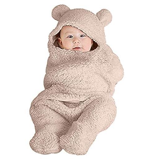 44dc13bc77bf Amazon.com  VEKDONE Newborn Baby Cute Cotton Receiving White ...