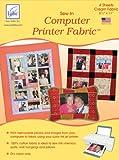 Sew-In Computer Printer Fabric-Cream 8-1/2''X11'' 4/ 1 pcs sku# 656989MA