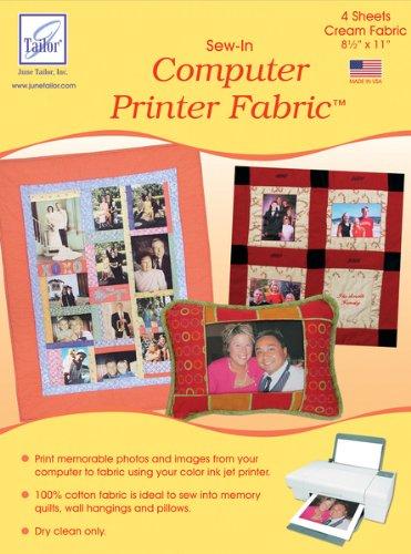 Sew-In Computer Printer Fabric-Cream 8-1/2''X11'' 4/ 1 pcs sku# 656989MA by WMU