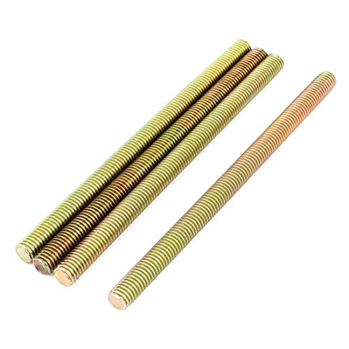 Bronze Threaded Rod - Uxcell a15062400ux0107 1.25mm Pitch M8 x 130mm Metal Full Threaded Rod Bar Bronze Tone (Pack of 4)