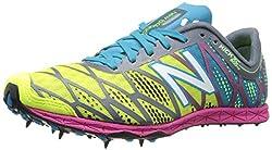 New Balance Women's WXC900 Cross Country Spike Shoe,Silver/Blue,7.5 B US