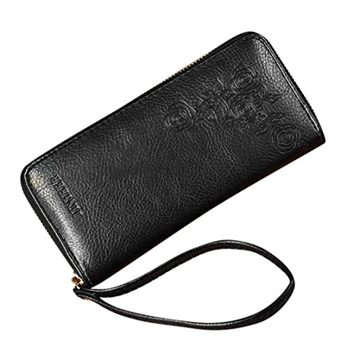 DORIC Womens Fahion Long Wallets Coin Purse Card Holders Handbag