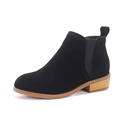 57c0b368dc Women s Ankle Boots New Genuine Leather Simple Vintage Winter High Boots Footwear  Shoes Chelsea Booties Black