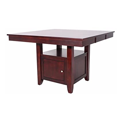 Amazoncom Ncf Bradford Counter Height Table With Storage Base In
