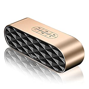 Portable Bluetooth Speaker, ZOEE S3 Outdoor Wireless Bluetooth V4.2 Stereo Subwoofer with HD Sound and Bass, Built-in 10W Dual Driver Speakerphone, Microphone, Handsfree Calling and TF Card Slot