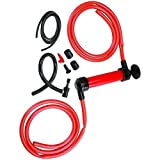 Siphon Pump, HTOMT Hand Liquid Transfer Pump Hose for Gas, Oil Air, & Other Fluids Travel Emergency Vehicle Pump